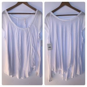 NWT Free People Ivory Tunic Top in White Size M